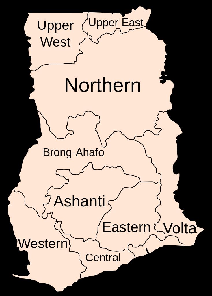regions of ghana