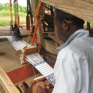 Kente weaving